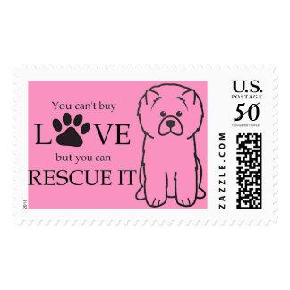 dog postage stamp rescue
