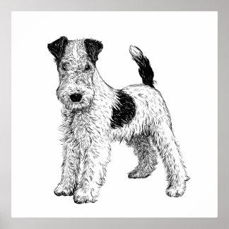 Dog Poster / Wall Art Fox Terrier