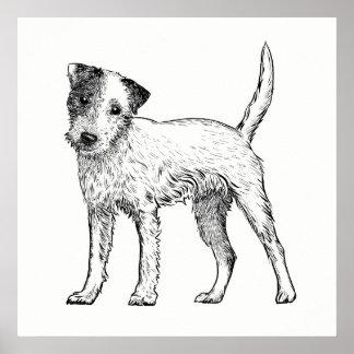 Dog Poster / Wall Art Jack Russell Terrier