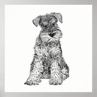 Dog Poster / Wall Art Schnauzer