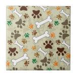"""dog pows and bone tile<br><div class=""""desc"""">dog lovers background</div>"""