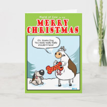 Dog Present Holiday Card