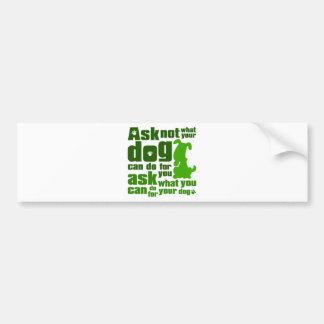 Dog_Print Bumper Sticker