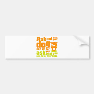 Dog_Print Bumper Sticker
