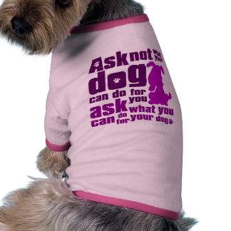 Dog_Print Pet Tee Shirt