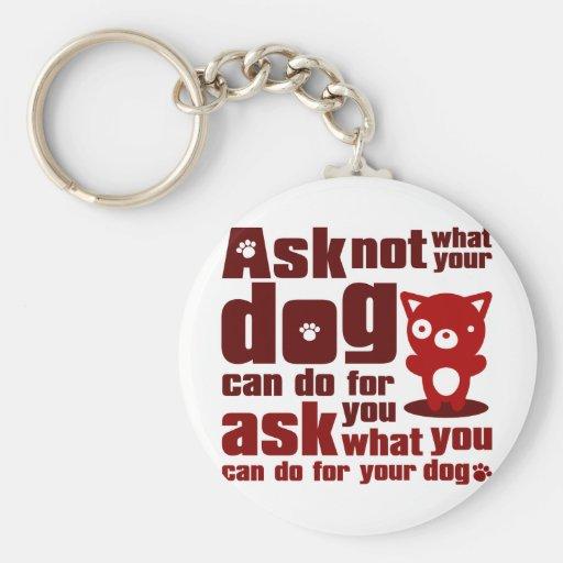 Dog_Print Keychain