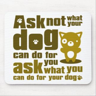Dog_Print Mouse Pad
