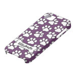 Dog Print Pattern with Bone iPhone 5 Cases