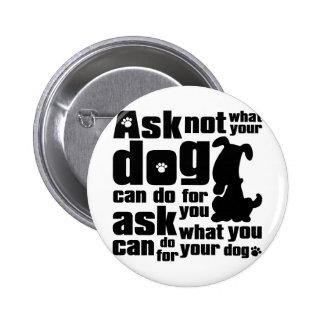Dog_Print Pinback Button