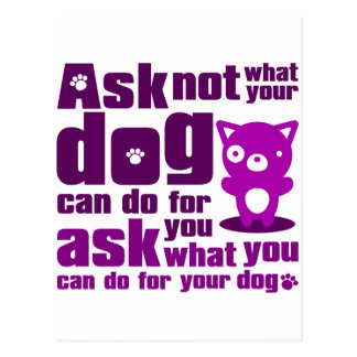 Dog_Print Postcard