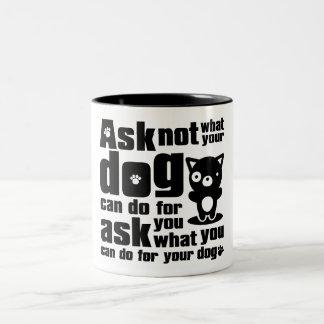 Dog_Print Two-Tone Coffee Mug