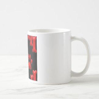 Dog Prints and Bones Classic White Coffee Mug