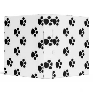 Dog prints Binder binder