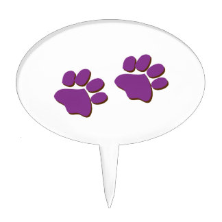 Dog Prints Cake Toppers