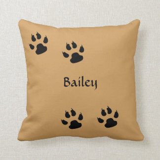 Dog Prints Throw Pillow