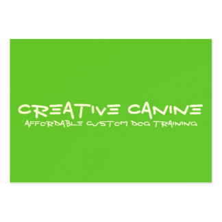 Dog Professional Business & Advertising Card Large Business Card