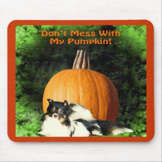 Dog Protecting Large Pumpkin Mousepad