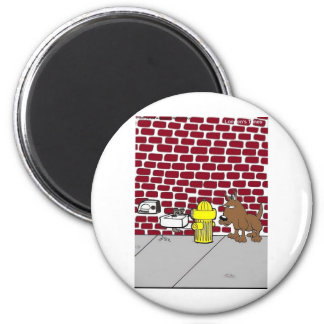 Dog Public Bathrooms Funny Cartoon Tees & Gifts Refrigerator Magnet