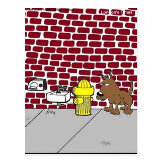 Dog Public Bathrooms Funny Cartoon Tees & Gifts Postcard