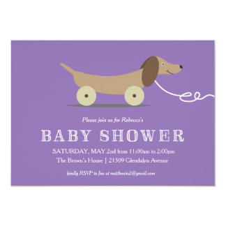 Dog Pull Toy Baby Shower Invitation
