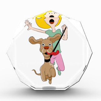 Dog Pulling Woman Cartoon Award