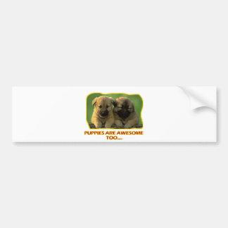 dog puppies' DESIGNS Bumper Sticker