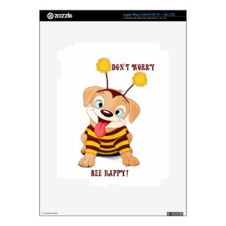 Dog Puppies Lovers Bees Don't Worry, Bee Happy! Skin For iPad 3