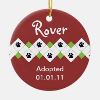 Dog/Puppy Adoption Announcement Ceramic Ornament