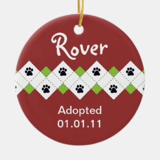 Dog/Puppy Adoption Announcement Christmas Ornaments
