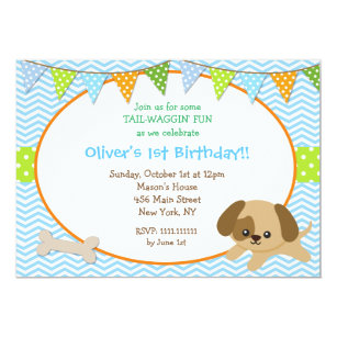 Dog Party Invitations Announcements Zazzle