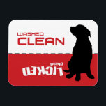 "Dog Puppy Dishwasher Magnet - Licked Clean<br><div class=""desc"">My dog Murphy got jealous of my dog Bella&#39;s design so here he is as a functional Dishwasher Magnet.</div>"