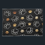 """Dog Puppy Paw Prints Gifts Black and Gold Kitchen Towel<br><div class=""""desc"""">dogs,  paws,  doggie,  &quot;dog paw&quot;,  &quot;puppy paw&quot;,  &quot;dogs rule&quot;,  &quot;dog cut paw&quot;,  &quot;dog paw cut&quot;,  &quot;cut dog paw&quot;,  &quot;for dog lovers&quot;,  gold,  black,  white,  Gifts , </div>"""