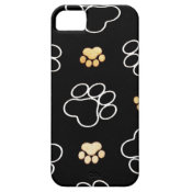 Dog Puppy Paw Prints Gifts for Dog Lovers iPhone 5 Cases