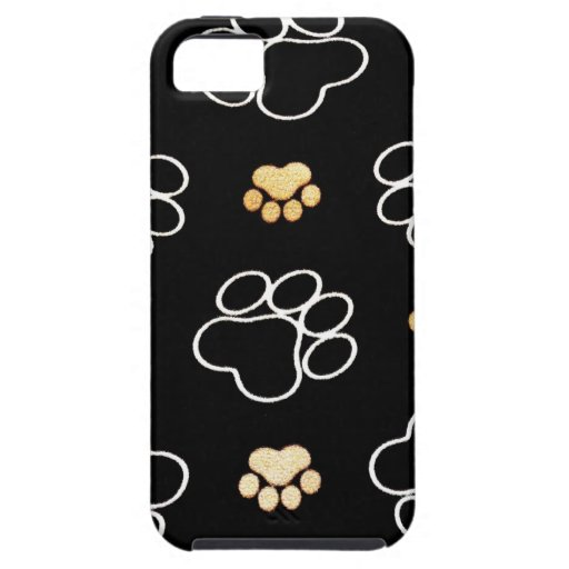 Dog Puppy Paw Prints Gifts for Dog Lovers iPhone 5 Case