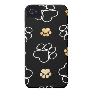 Dog Puppy Paw Prints Gifts for Dog Lovers iPhone 4 Cover