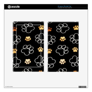 Dog Puppy Paw Prints Gifts for Dog Lovers Kindle Fire Skins