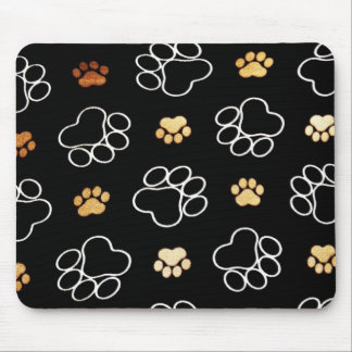 Dog Puppy Paw Prints Gifts for Dog Lovers Mousepad