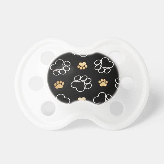 Dog Puppy Paw Prints Gifts for Dog Lovers Pacifier
