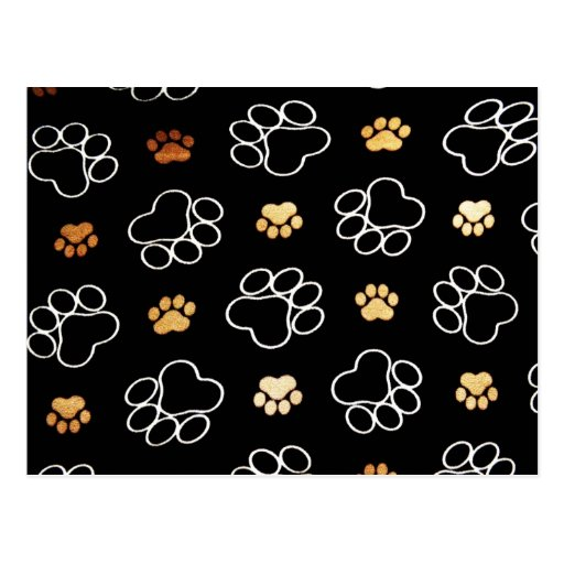 Dog Puppy Paw Prints Gifts for Dog Lovers Postcard