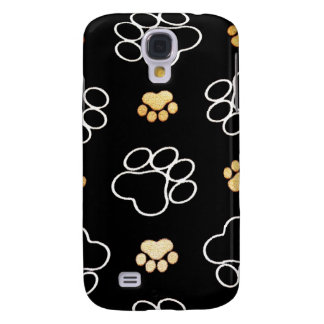Dog Puppy Paw Prints Gifts for Dog Lovers Samsung Galaxy S4 Cover