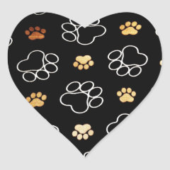 Dog Puppy Paw Prints Gifts for Dog Lovers Sticker