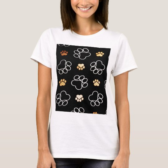 Dog Puppy Paw Prints Gifts for Dog Lovers T-Shirt