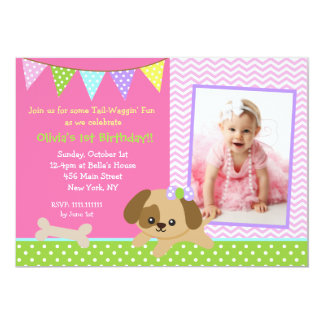 dog puppy photo birthday party invitations - Dog Party Invitations