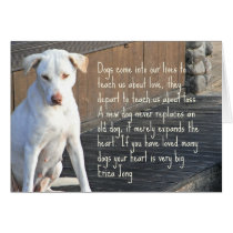 Dog Quotation Card
