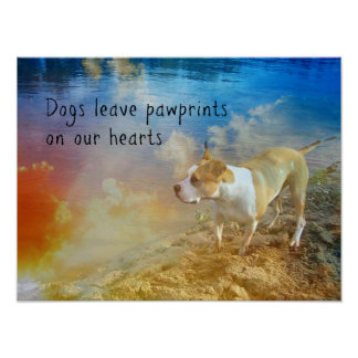 Dog Quote Poster - Dogs Leave Pawprints