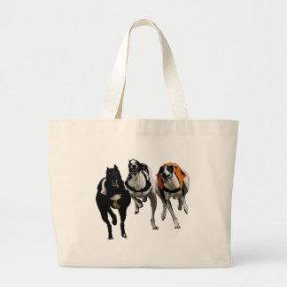 DOG RACE GREYHOUND CANVAS BAG