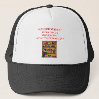 DOG racing joke Trucker Hat