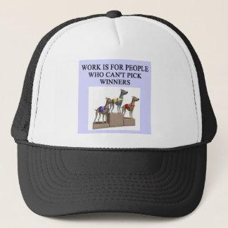 dog racing proverb trucker hat