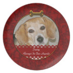Dog Remembrance Photo Plate