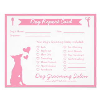 Dog Report Card for Dog Groomers